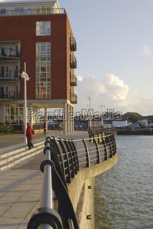 gunwharf quays in portsmouth hampshire england