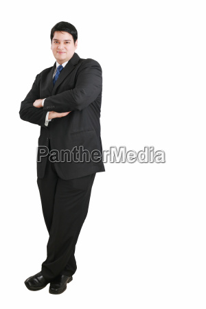 young business man full body isolated