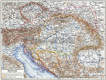 map of austro hungarian monarchy