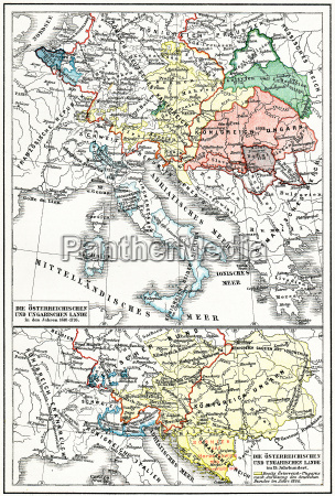 map of austria hungary from the