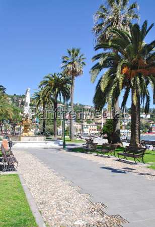 the lake promenade of santa margherita