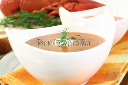 boiled lobster bisque