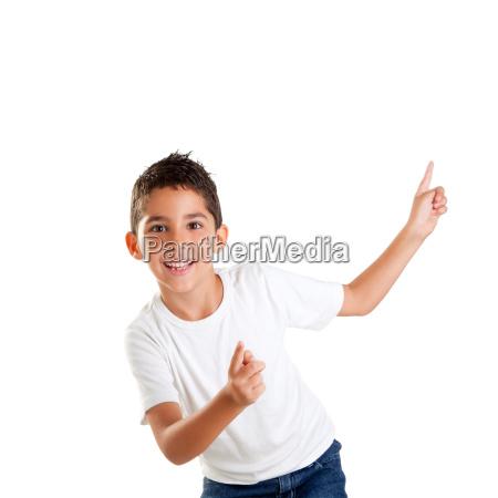 dancing happy children kid boy with