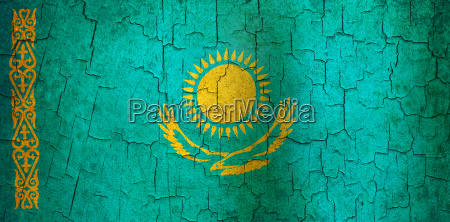 grunge kazakhstan flag