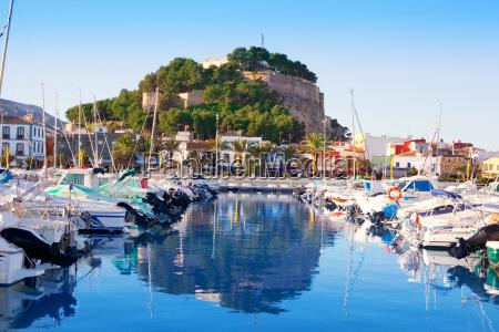 denia, mediterranean, port, village, with, castle - 6312715