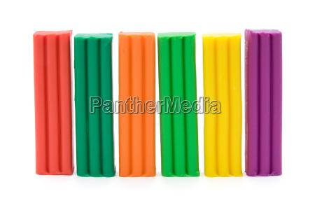 colorful plasticine bricks