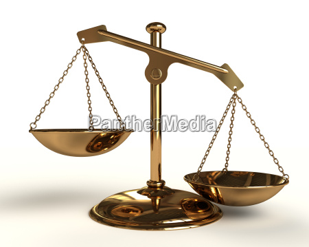 justice concept gold balance