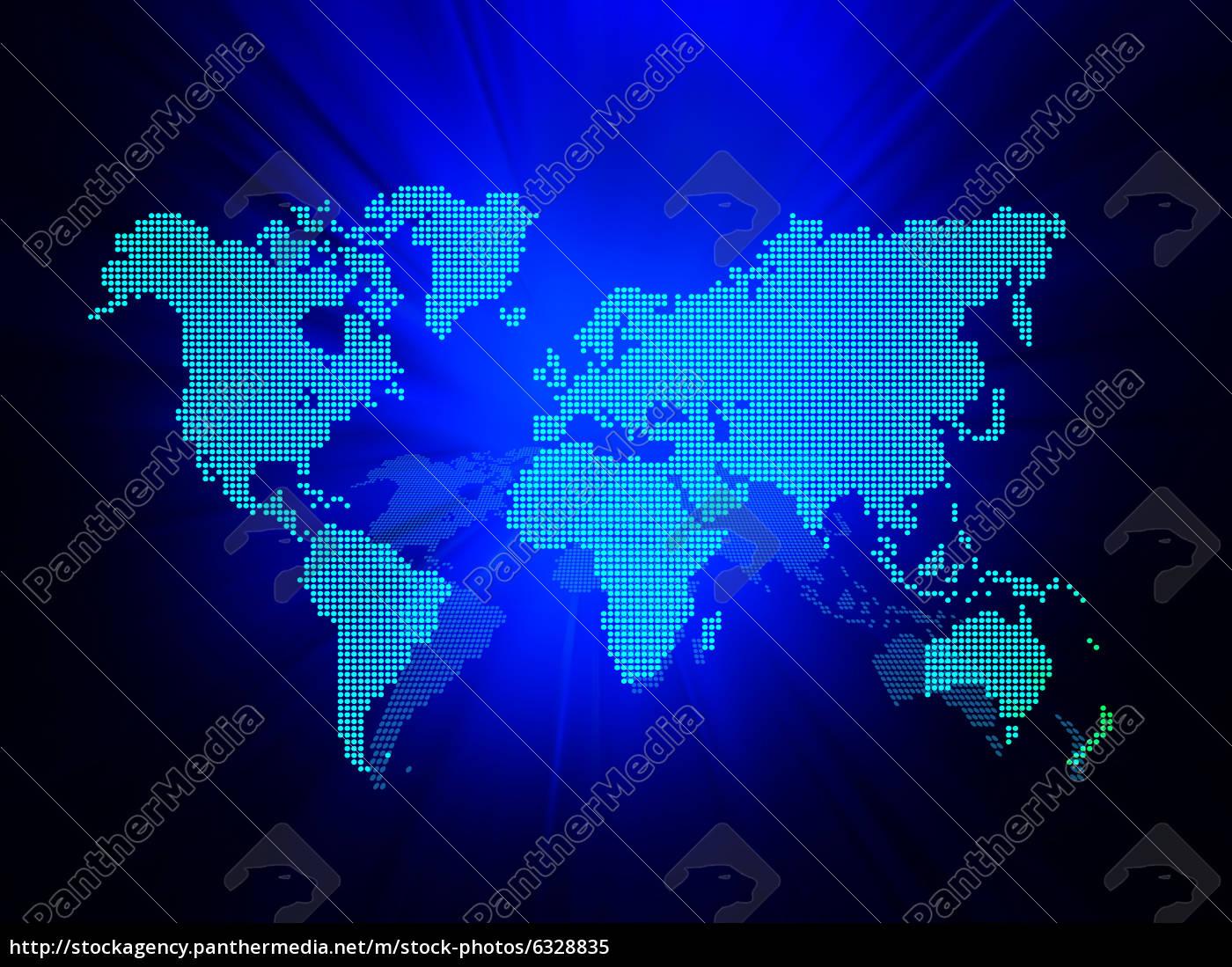 Dot World Map Business Background Stock Photo 6328835