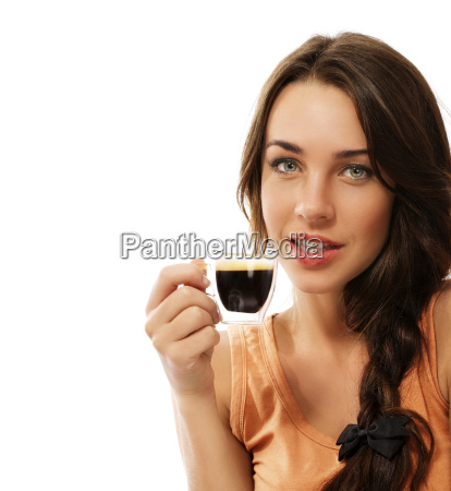 beautiful woman with a cup of