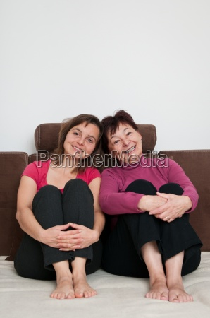 love mother and daughter at