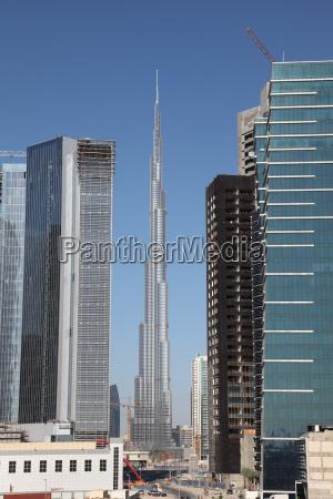 skyscrapers in dubai united arab emirates
