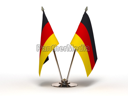 miniature flag of germany isolated