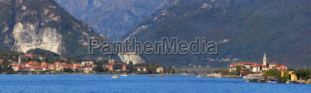 panoramic view on famous lake maggiore