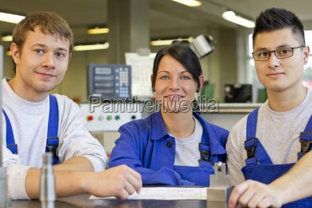 apprentices in training