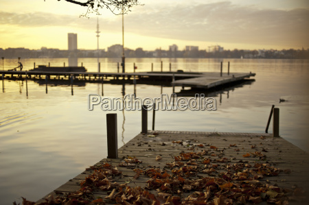 autumn leaves on the outer alster