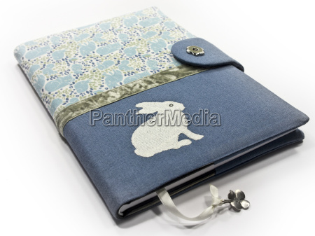 book cover made of cotton fabric