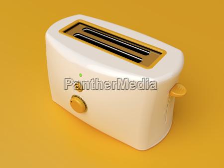 white electric toaster