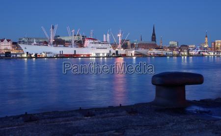 port of hamburg blue hour