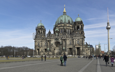 berliner dom with television tower