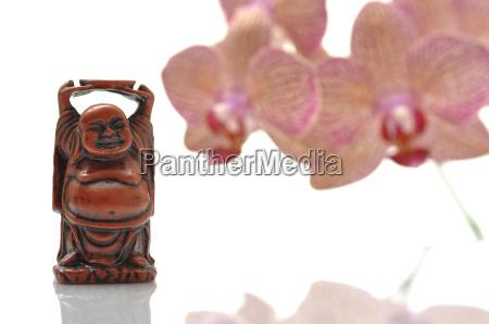 maitreya buddha and orchid