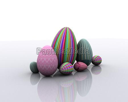 colored eggs