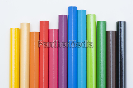 variety of colored pencils