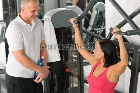 personal trainer at fitness center show