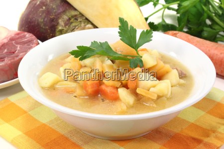 fresh turnip stew