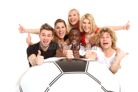 fans with football