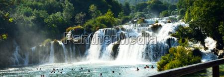 wonderful waterfalls of krka sibenik croatia