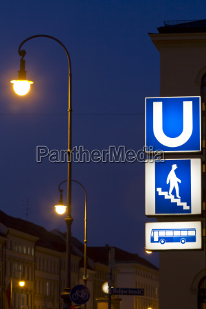sign for metro and bus in