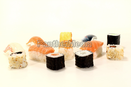 fresh raw japanese sushi