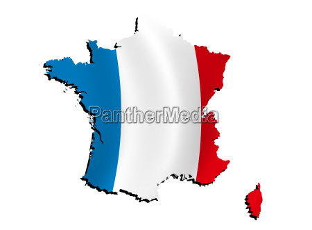 map france with flag