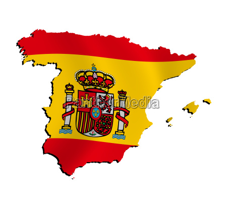 map spain with flag