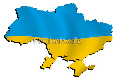 map ukraine with flag