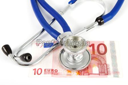 stethoscope with ten euros