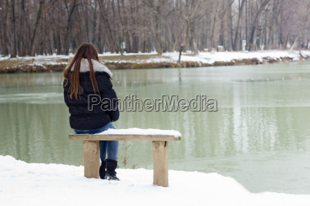 lonely young woman