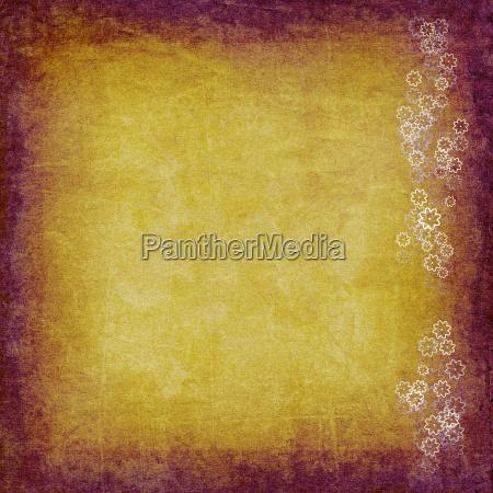 parchment flowers card