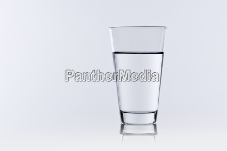 water glass with gray background
