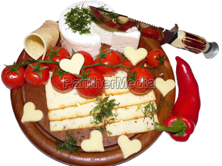 rustic cheese platter