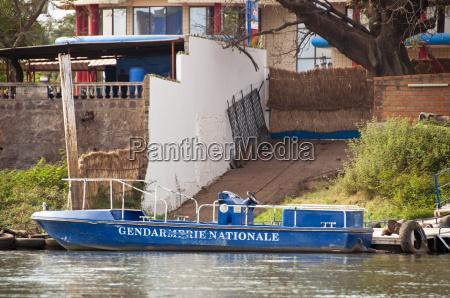 gendarmerie boat in bamako