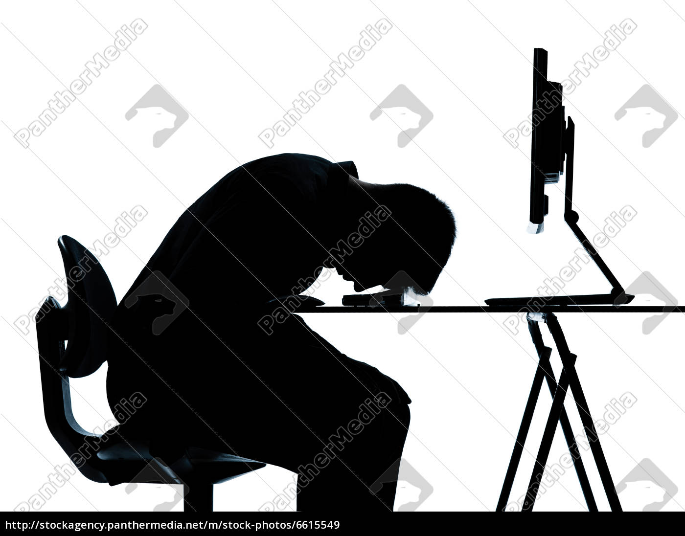 One Business Man Silhouette Funny Exercise Balancing Royalty Free Image 6615549 Panthermedia Stock Agency