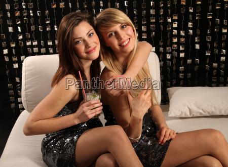 girlfriends in a club