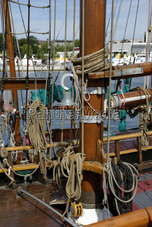 rigging on a traditional sailing ship