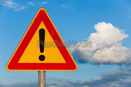 traffic signs warning hazard