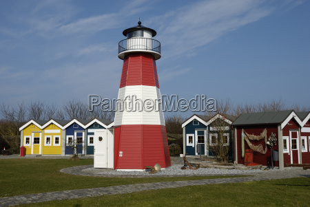 lighthouse in the museum on helgoland