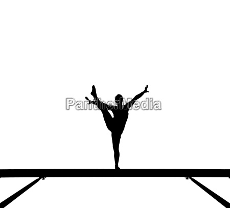 silhouette of a gymnast on the
