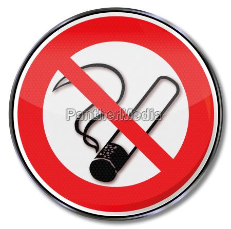 prohibition sign smoking