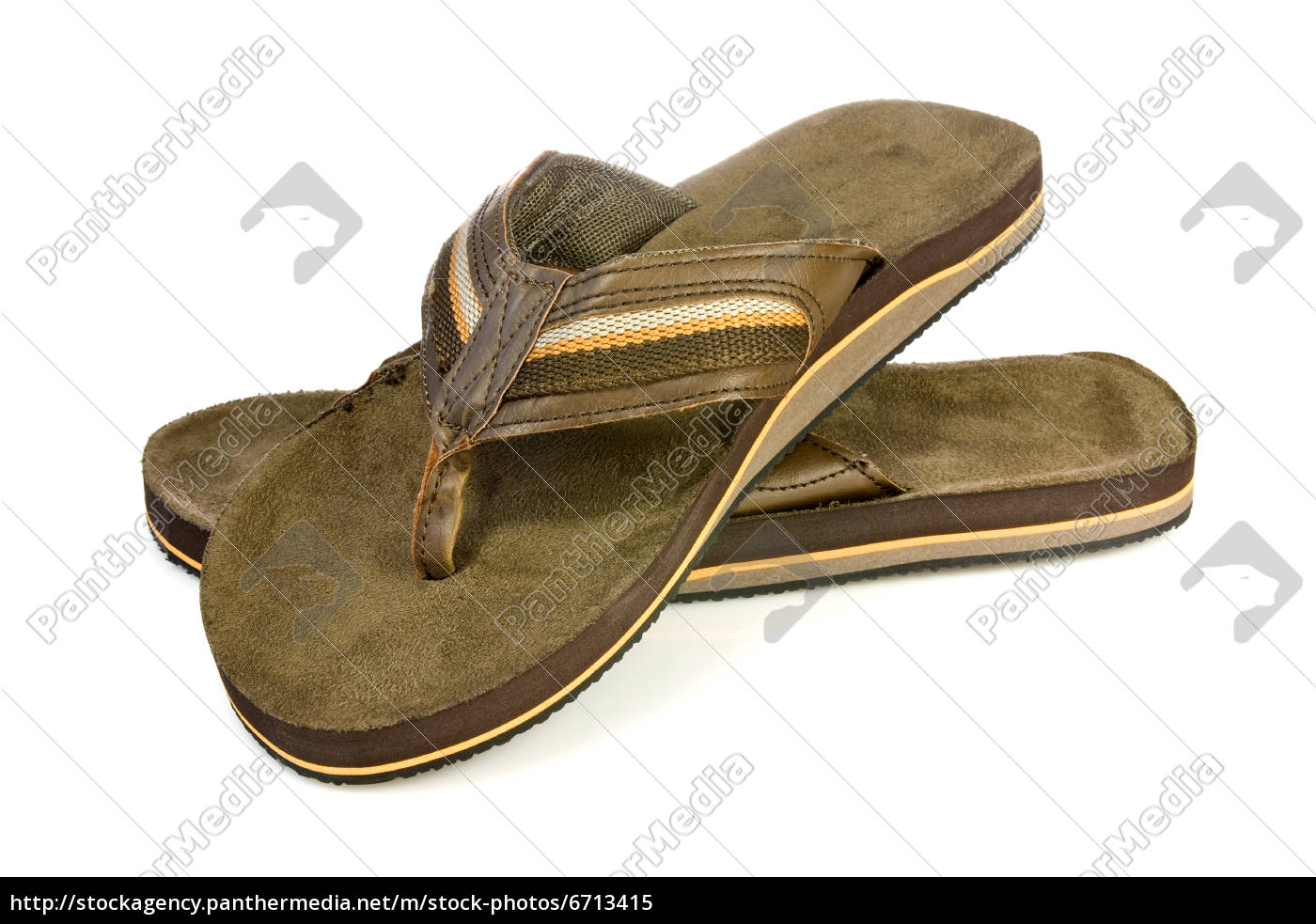 4dc4fa23538b78 Pair of men s flip flops - Royalty free image -  6713415 ...