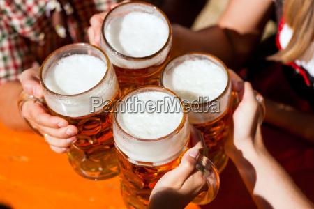 a fresh measure of beer in